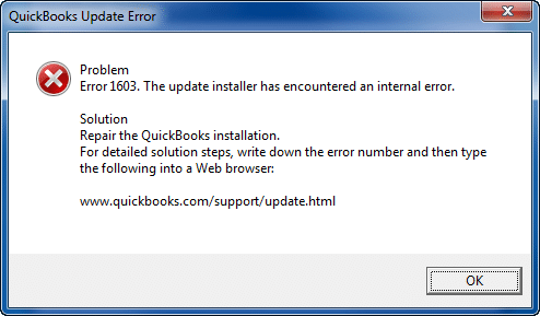 How to Fix QuickBooks Updates Error 1603