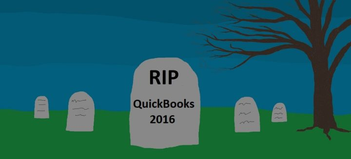 QuickBooks 2016 Discontinuation