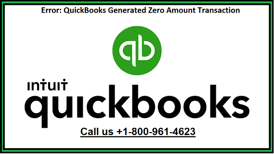 QuickBooks generates zero amount