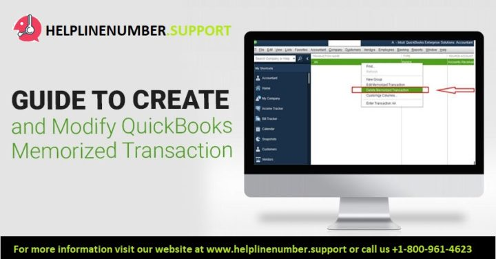 create and modify QuickBooks memorized transaction