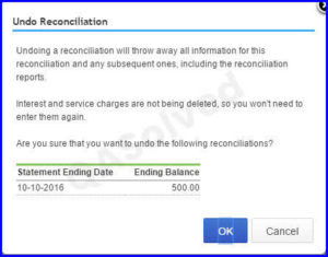 Steps to undo reconciliation in QuickBooks