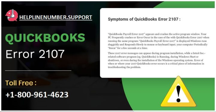 How to fix QuickBooks Error 2107?