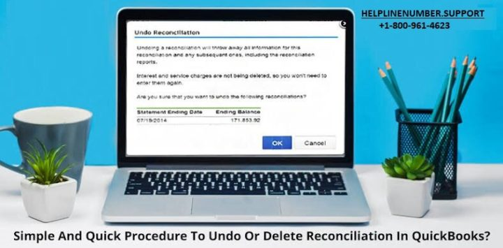 undo or delete reconciliation in QuickBooks online