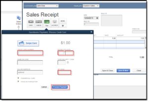 Process credit card payments in QuickBooks