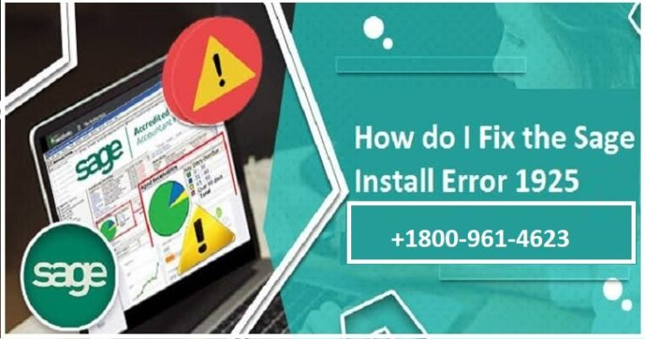 How to Fix Sage 50 1925 Error?