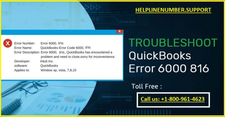 How to Fix QuickBooks Error 6000 816?