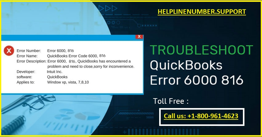 QuickBooks error 6000 816