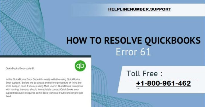 Steps to Solve QuickBooks Error 61?
