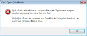 QuickBooks Company File is Already Open