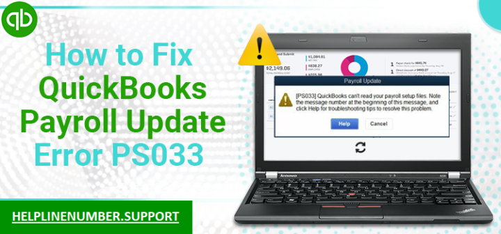 How to Fix QuickBooks Payroll Update Error PS033?