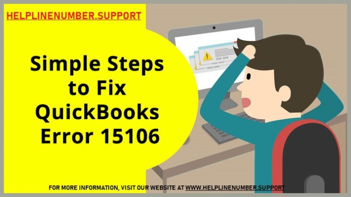 How to Solve QuickBooks Error 15106?